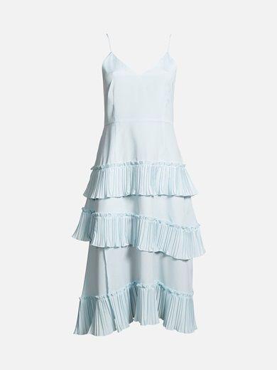Dress #blue #ruffles #summer #cute #bikbok #fashion
