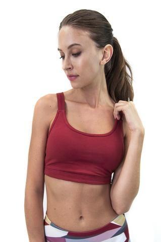75fd6938371 Organic Cotton Fitness Sports Bra - natural