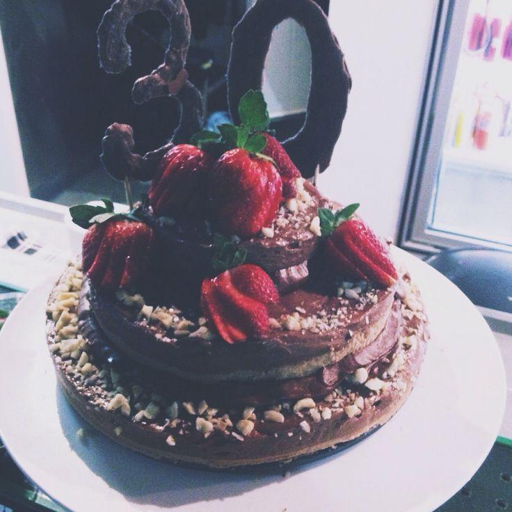 Yasmin's 30th Nutella cheesecake