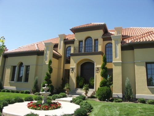 17 best images about curb appeal on pinterest stucco for Mediterranean exterior design
