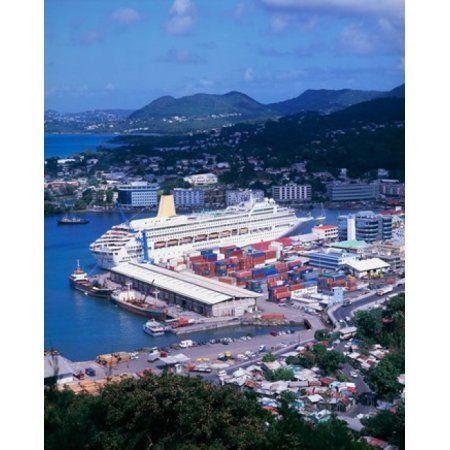 Castries St Lucia Caribbean Canvas Art - Paul Thompson DanitaDelimont (22 x 27)