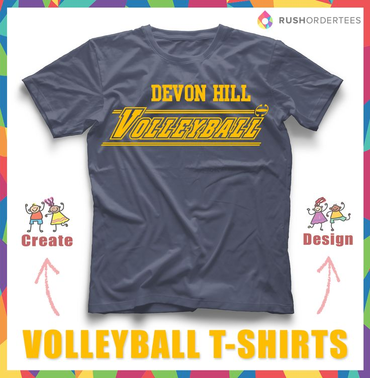 Volleyball Custom T Shirt Design! Create And Edit Your Team Name With Our  Online