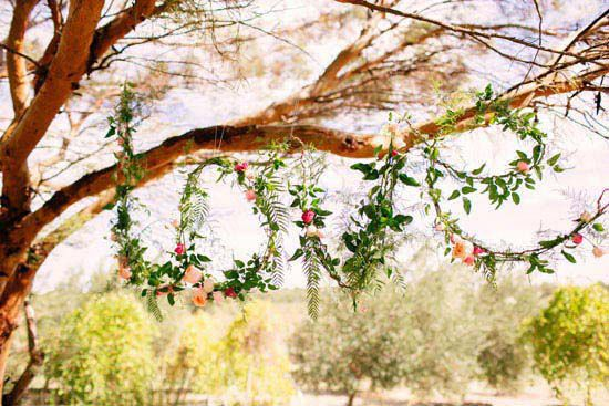 "Love this ""Love"" vine and flower wedding ceremony decor"