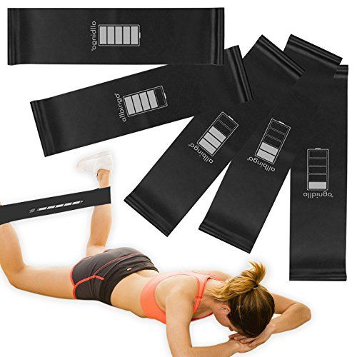 Resistance Loop Bands Set – Extra Wide Extra Long Exercise Bands – Resistance Bands for Legs – Great…