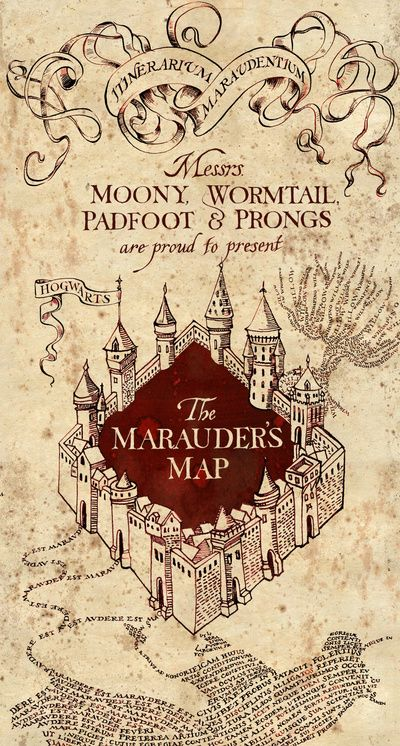Poster Wall - The Marauder's map- Harry Potter Art Print