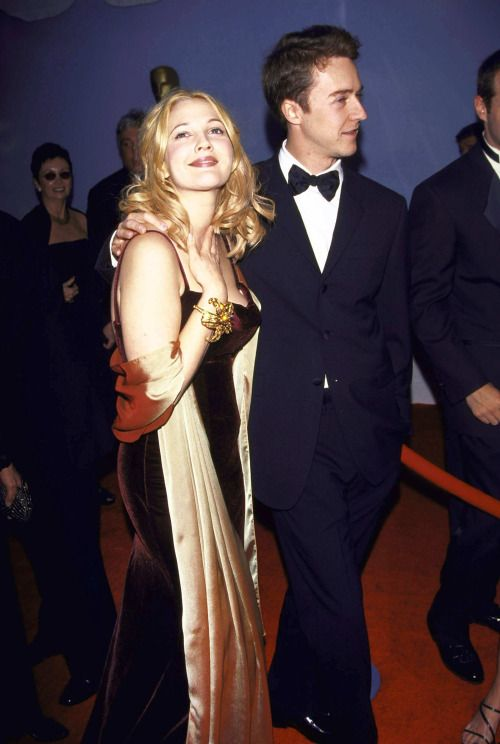 Drew Barrymore and Edward Norton, 1999