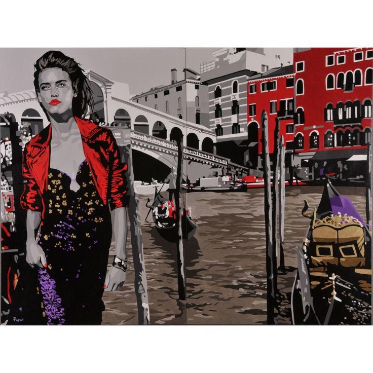 The mystery of the old bridge -acrylic on canvas; Papa Silvia