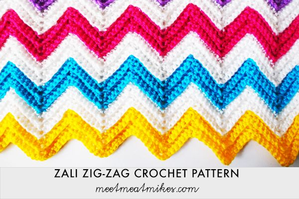 Tutorial Zigzag Knitting : Best fiber chevon crochet knit tuts ideas images on