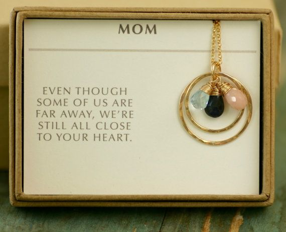 Gold mother necklace for mom, gold birthstone necklace mother, grandmother jewelry, gift for mom necklace mum gifts - Celeste