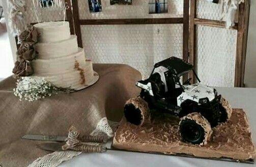 Mudding, wedding cake, rzr cake, mud cake, grooms cake .....absolutely LOVE