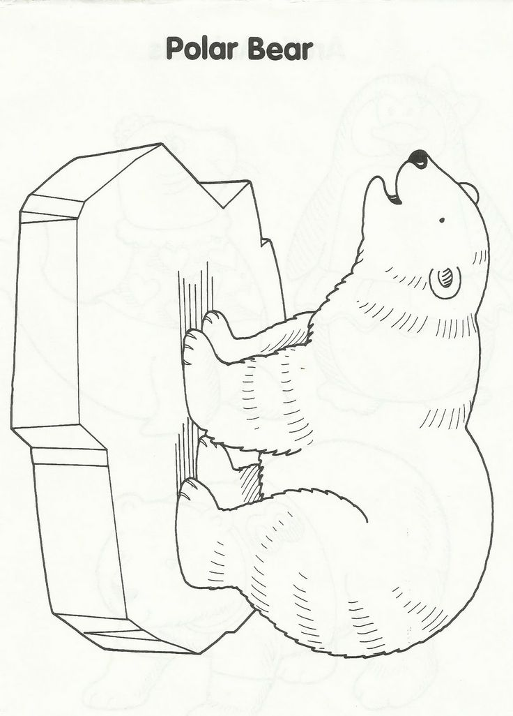 polar bear coloring pages preschool - photo#29