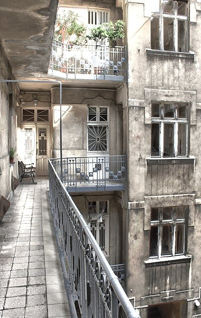 100 years old building in Budapest