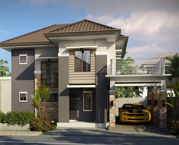 Striking Collection Of 15 Houses With Terrace Home Design Lover 2 Storey House Design Minimalist House Design 3 Storey House Design