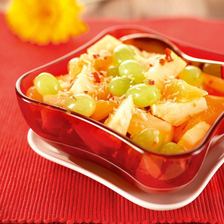 Ananas-hedelmäsalaatti | K-ruoka #persimon