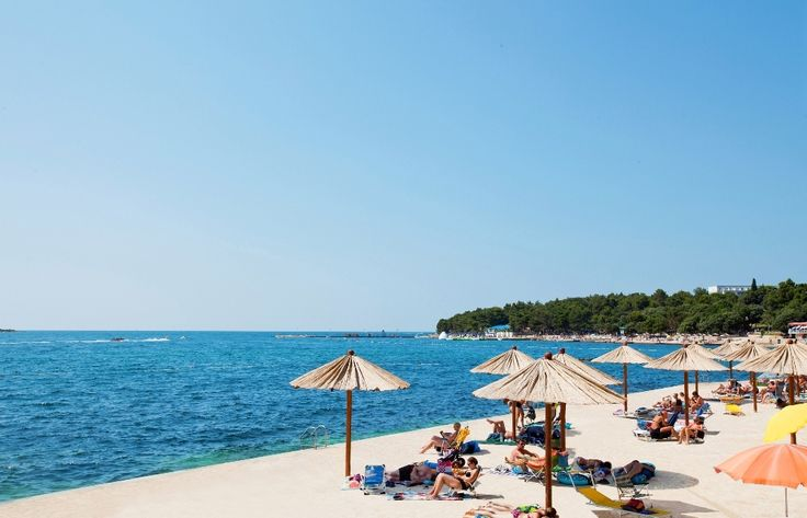 Beach @ Camping Zelena Laguna #Porec #Croatia