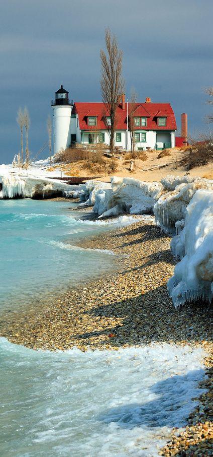 Point Betsie Lighthouse, Crystallia, Michigan, USA ✿⊱╮