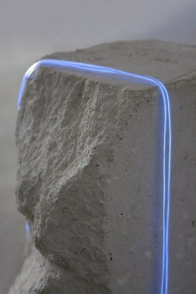 jessicamellingart: Stone and Neon Installation [Close up], 2014