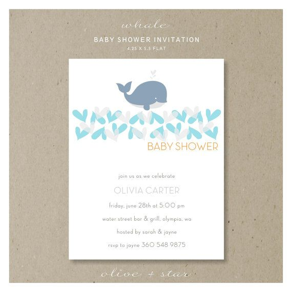 little whale baby shower invitation set by oliveandstar on etsy 16