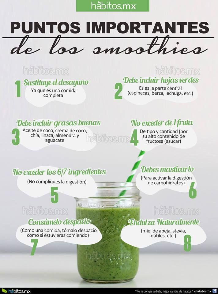 Puntos importantes de los #smoothies