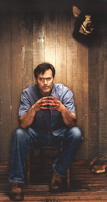 Bruce Campbell as Ashley 'Ash' J. Williams from The Evil Dead (1981), Evil Dead II (1987), and Army of Darkness (1992)