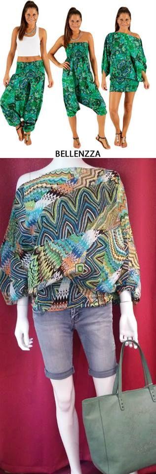 C'est la tenue du jour ! Et cet été il sera l'indispensable d'un look au Top !   Le Sarouel 3 en 1 100% Coton,de la sélection Bellenzza, se décline de plusieurs façons.  Il se porte à la fois en pantalon sarouel, en combinaison bustier et en Top/Tunique  Sarouel 3 en 1 : 34.90 € Pantacourt jeans : 31.90 €  Sac Brooklyn Lulu Castagnette : 45.90 €  http://www.bellenzza.com/sarouel,fr,3,95.cfm
