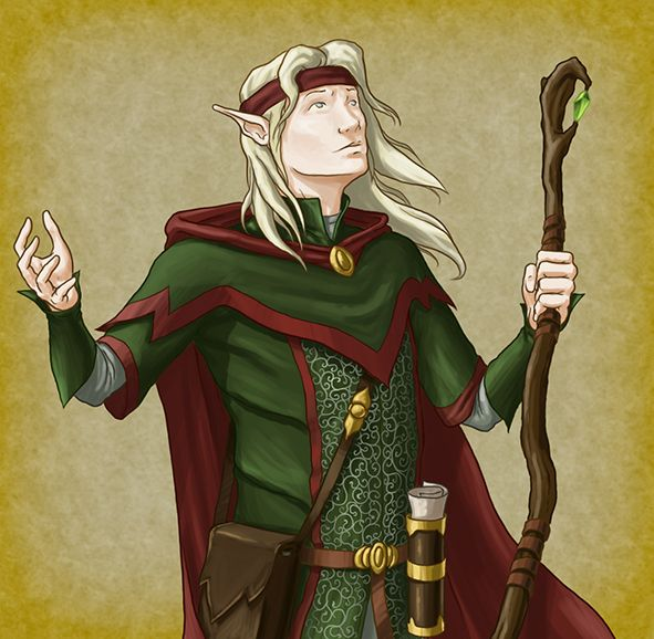 Elf Magic User by quellion on DeviantArt