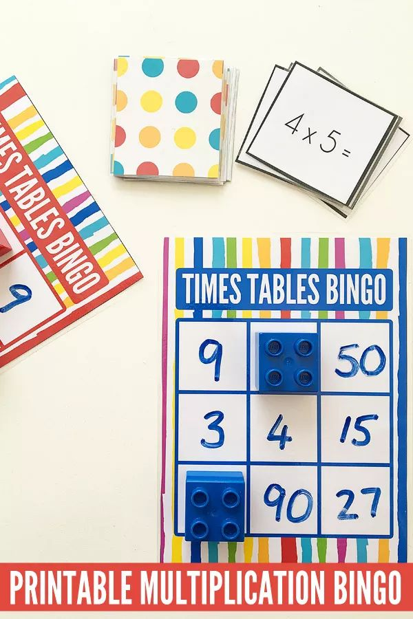 Multiplication Games for Kids: Printable Times Tables Bingo