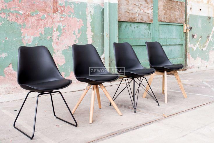 Legno stoelen van Essence | Mix & Match de Legno met met verschillende stoelen van Essence | Leverbaar in Wit, Grijs en Zwart | 4 verschillende onderstellen | Gewoonstijl
