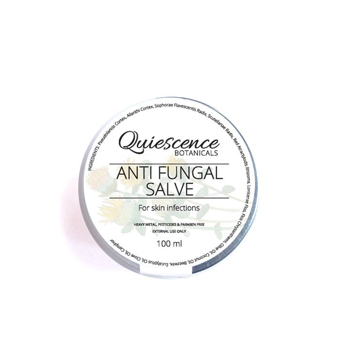 For fungal skin infections.  A natural salve with Chinese botanical herbs known for their anti-fungal  properties. Excellent for treating skin conditions such as tinea (athletes  foot) and topical candida infections.  Golden Larch Bark (TunJin Pi) has a long history of topically treating skin  infections and is the major active ingredient in this salve. It is combined  with several other anti-fungal botanicalS including Ailanthus Altissima  bark (Chun Gen Pi), well known for its…