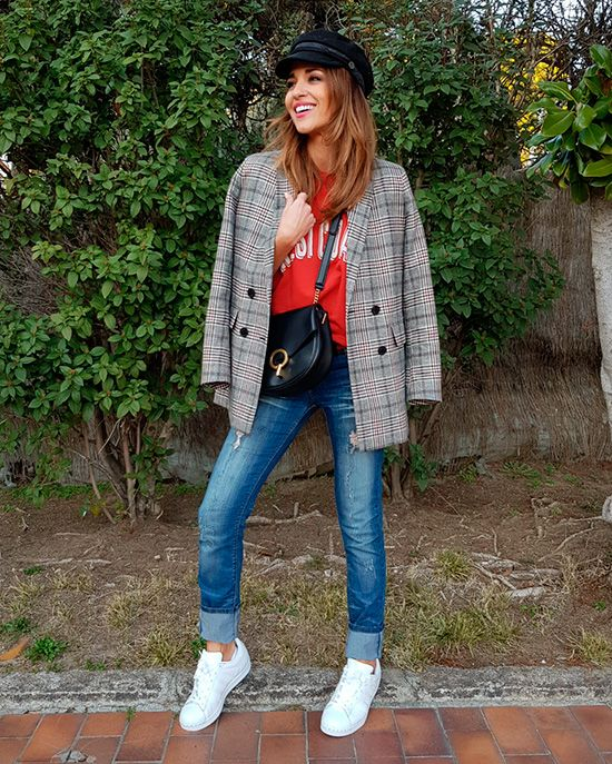8b9753390 6 looks con zapatillas blancas para copiar en 2019 | Outfit | Looks ...