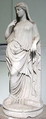 Afrodite Inclinada cópia romana do original grego do século II a.C., no Museu Arqueológico de Nápoles
