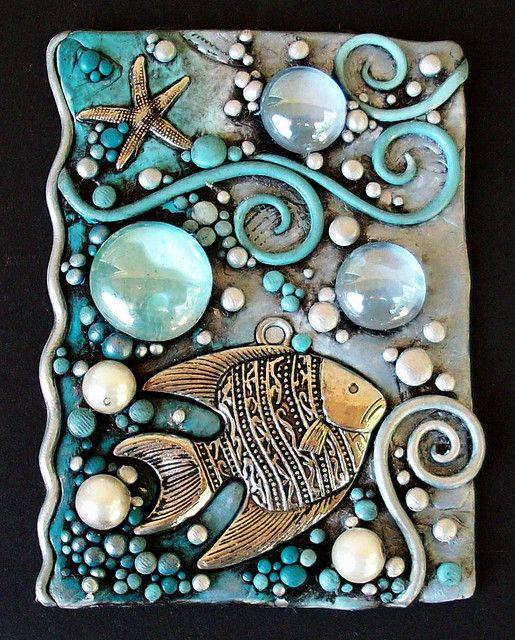 tropical fish ACEO Pearl Blue  by MandarinMoon, via Flickr