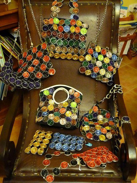 De kunst van het Recycling: Zakken met Nespresso capsules