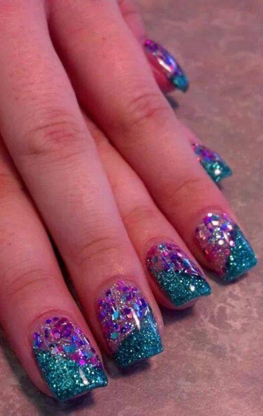 Acrylic nails by Jade @ Glimmer Nail Studio, Casper, WY
