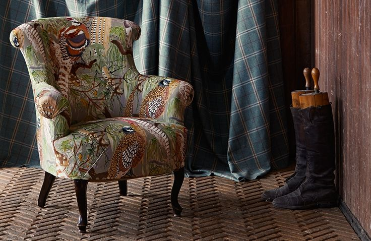 Stunning Bohemian Romance fabric by G P & J Baker. #interior #country #fabric #upholstery