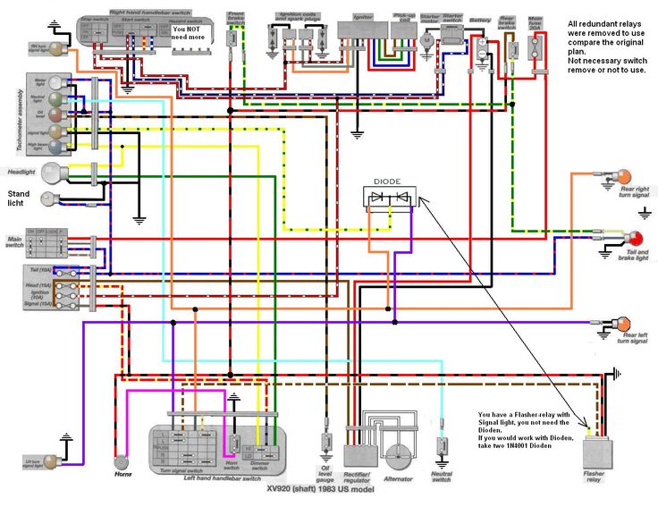 de5d52e2409fec2f5ef10f130e06771b tr1 xv1000 xv920 wiring diagrams manfred's tr1 page all about xv750 wiring diagram at panicattacktreatment.co