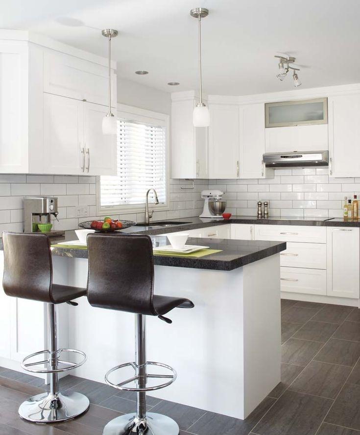 L'harmonie entre les matériaux et leur mise en place est la clé du succès de cette cuisine, que l'on voulait conviviale et contemporaine.