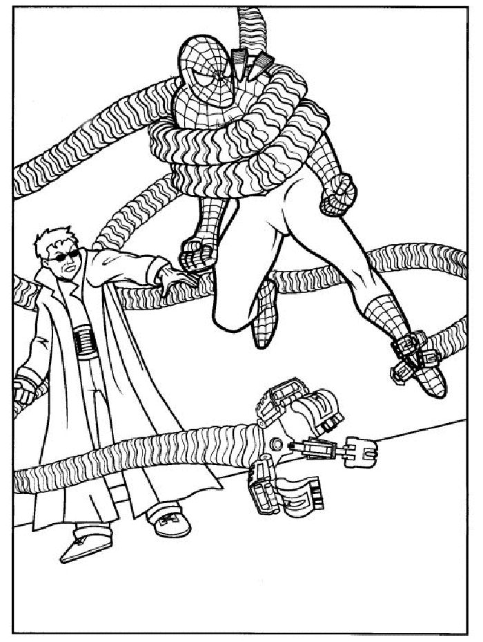 spidermand fifi coloring pages - photo#14
