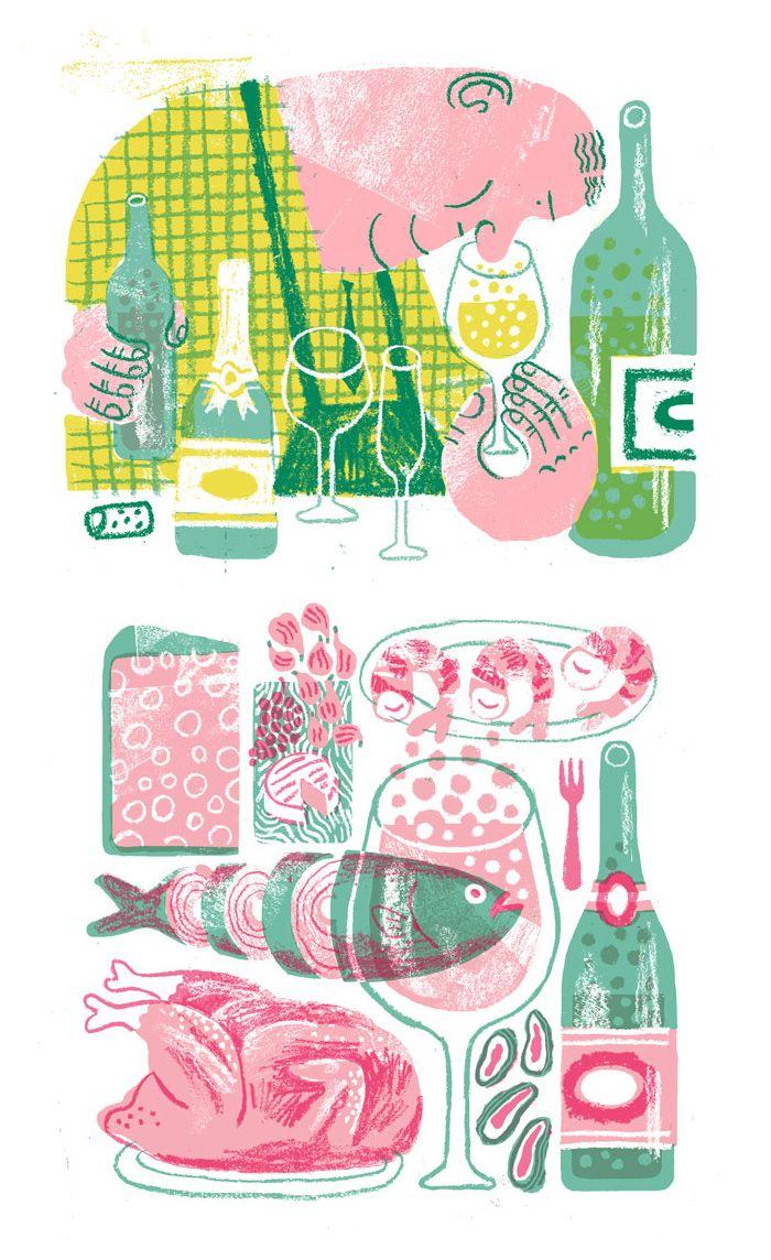 JooHee Yoon food illustrations