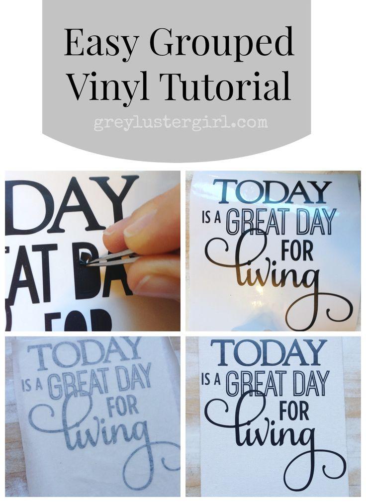 Easy Grouped Vinyl Tutorial