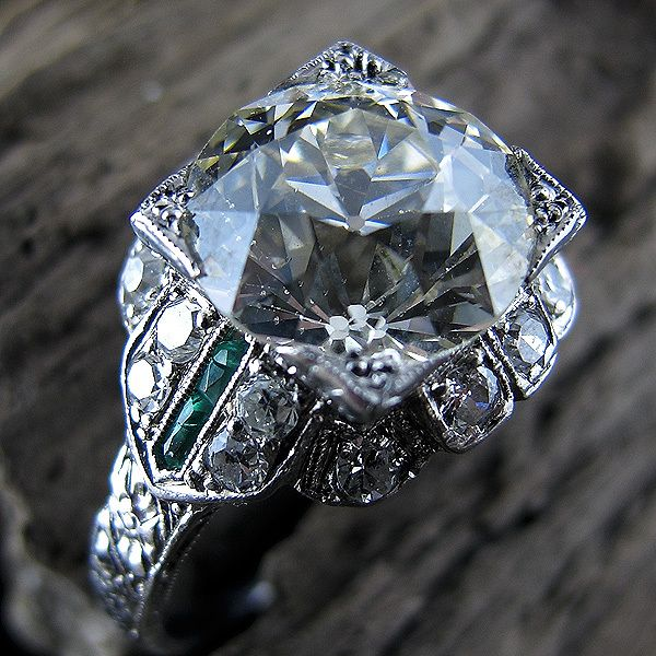 Biggest diamond ring I have ever seen-3.60 Carat Old European-Cut | New York Vintage  Antique Estate Jewelry – Erstwhile Jewelry Co NY