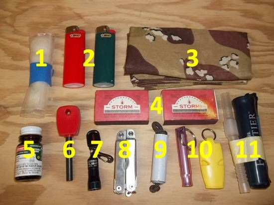 How to Make a Water Bottle Survival Kit