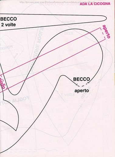 Cicogna.. Carta modello 2