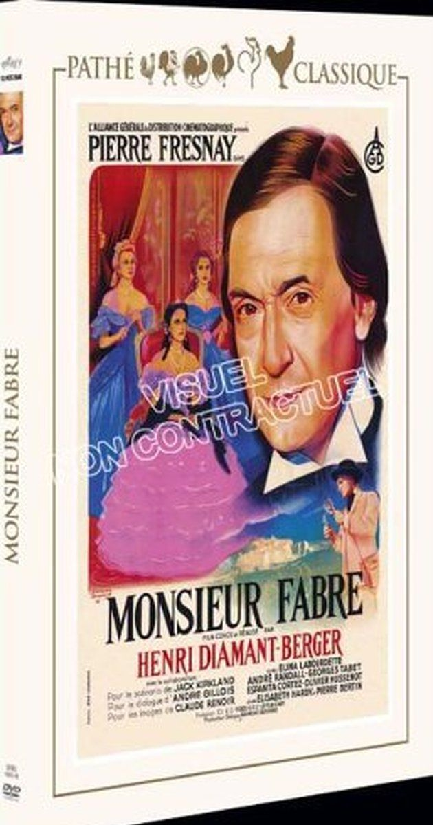 Directed by Henri Diamant-Berger.  With Pierre Fresnay, Elina Labourdette, André Randall, Georges Tabet. Pierre Fresnay plays the title role of a dedicated man, living in the south of France in the 19th-century and somewhat ahead of his time. Fabre ekes out a meager existence for his huge family as a mathematics instructor who studies insects. Recognition of his work, both in the field of entomology and as it related to man's behavior, came slowly over a 50-year period that showed him tha...