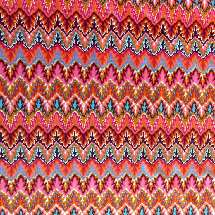 The Fabric Fairy Multicolor Zig Zags Nylon Spandex Swimsuit Fabric