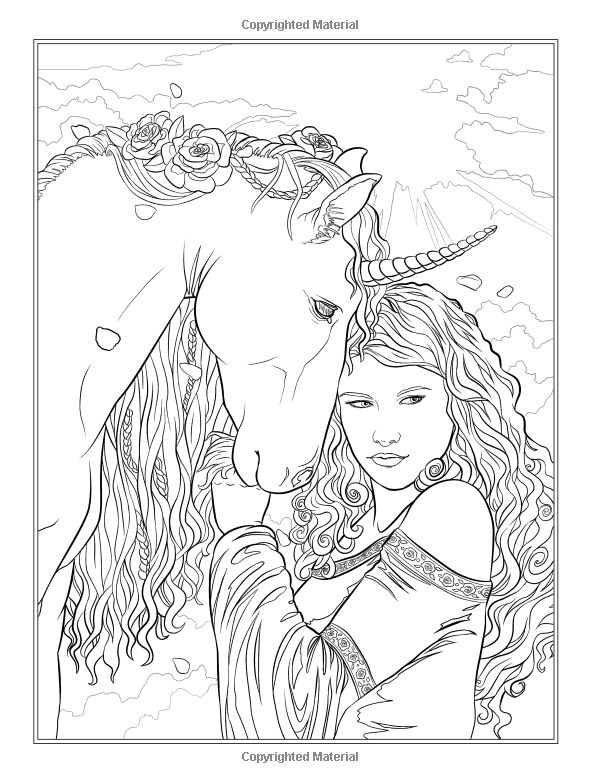 fantasy based coloring book pages - photo#40