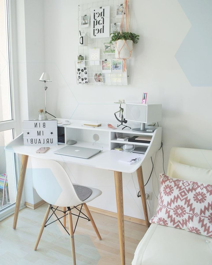 Home Office With Desk In Scandistyle Office In Scandinavian Style Home Home Decor Small Home Offices