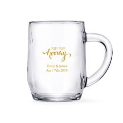 Personalized Clear Glass Coffee Mugs