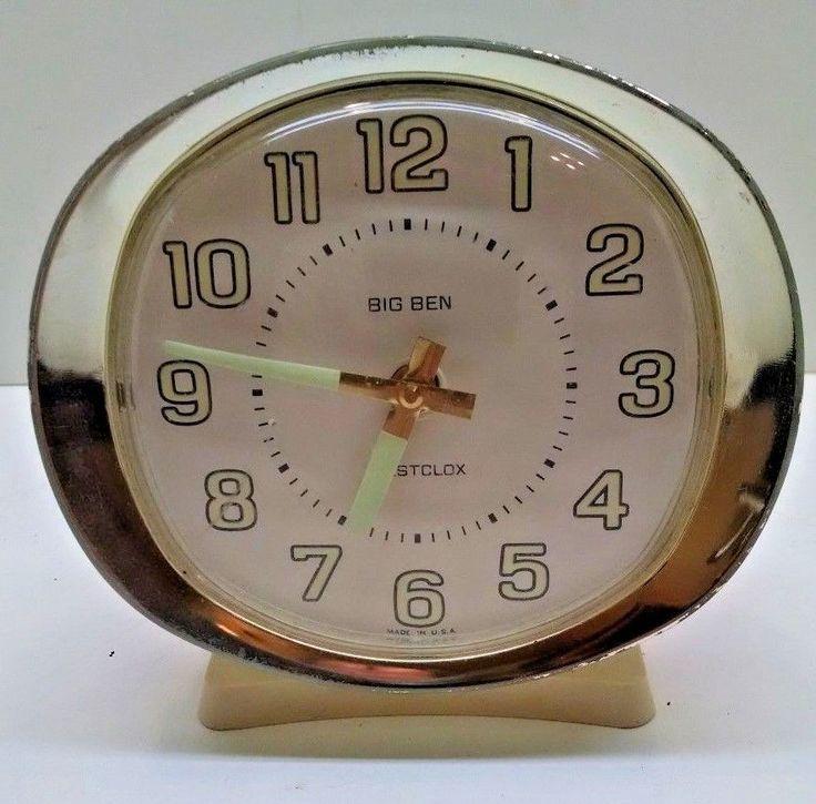Vintage Westclox BIG BEN Wind-Up Traditional Alarm Clock - Good Working Order #BigBen
