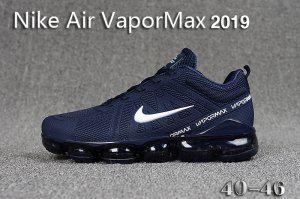 timeless design 12df0 644c2 Mens Winter Nike Air VaporMax 2019 Sneakers Navy blue white black